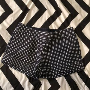 "NWOT The Limited Shorts 5"" Inseam Navy White Dot"